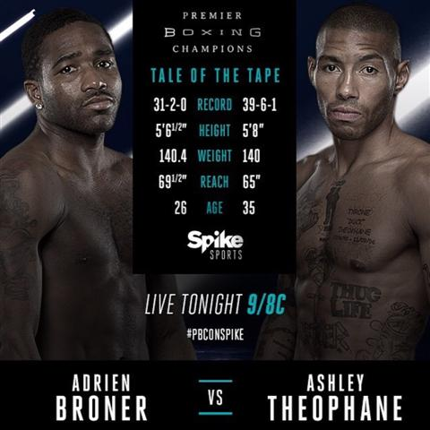 Broner Theophane tale of the tape